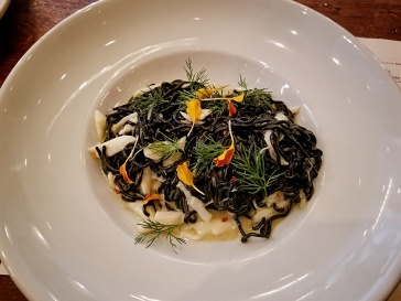 Photo: Squid Ink Tagliolini at Domenica Restaurant by Marielle Songy
